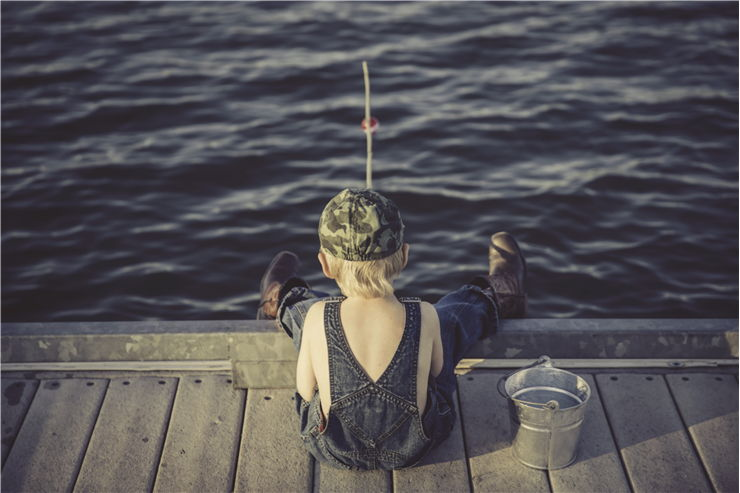 Picture Of Boy Fishing