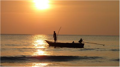Picture Of Fishing At Sunset