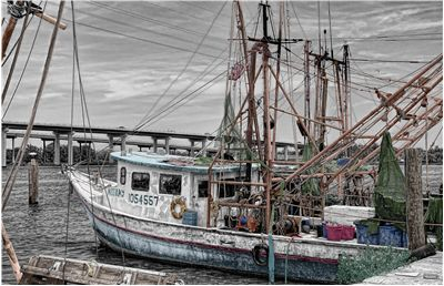 Picture Of Fishing Boat At Harbor
