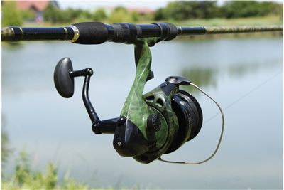 Picture Of Fishing Reel Pond