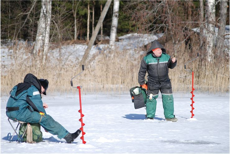 Picture Of Fishing Winter Ice Fishing