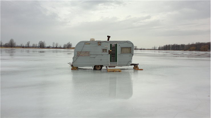 Picture Of Ice Fishing Hut Ice
